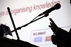 Organising knowledge stock image
