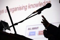 Organising knowledge Stock Image