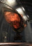 organisk airship 3d royaltyfri illustrationer