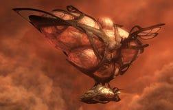 organisk airship 3d vektor illustrationer