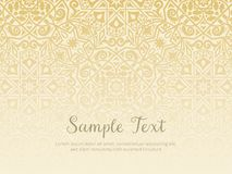 Organisk arabesquebakgrundsdesign guld- textur Arkivbilder