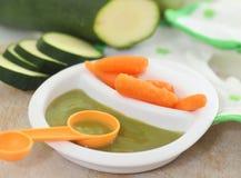 organisk babyfood royaltyfri foto