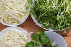 Organisk ekologisk strikt vegetarianmat Arkivfoto