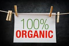 100% organisk etikett Arkivbilder
