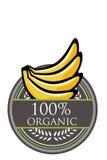 Organisk etikett för banan Royaltyfri Bild