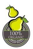 Organisk etikett för guava Fotografering för Bildbyråer