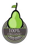 Organisk etikett för päron Royaltyfri Foto
