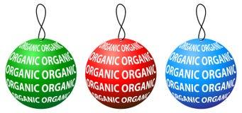 Organisk etikettsrundadesign med tre färger Royaltyfri Fotografi