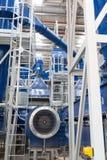 Organisk förlorad olja för metangas för lagring för växtinsidaprocess royaltyfri fotografi