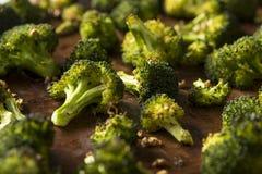 Organisk gräsplan grillade broccoliFlorets Royaltyfri Fotografi