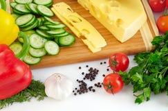 Organisk grönsakbakgrund Arkivbild