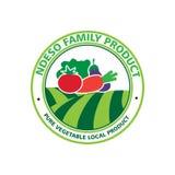 Organisk grönsaklogo stock illustrationer
