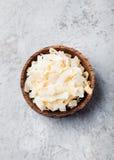 Organisk grillad kokosnöt Chips Flakes arkivfoton