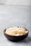 Organisk grillad kokosnöt Chips Flakes arkivfoto