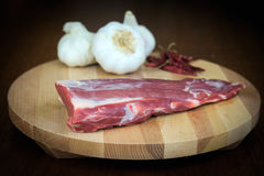 Organisk grisköttfilé Fotografering för Bildbyråer