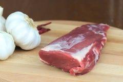 Organisk grisköttfilé Royaltyfri Fotografi
