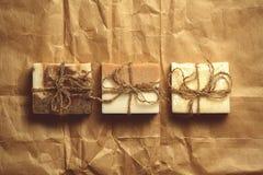 Organisk handgjord tvål Royaltyfri Foto