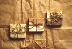 Organisk handgjord tvål Royaltyfria Foton