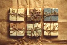 Organisk handgjord tvål Royaltyfria Bilder