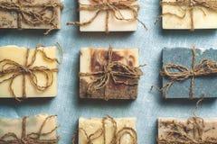 Organisk handgjord tvål Arkivfoto
