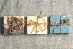 Organisk handgjord tvål Arkivbild