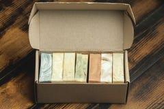 Organisk handgjord tvål Fotografering för Bildbyråer