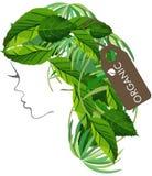 Organisk Logo Hair salonglogo stock illustrationer