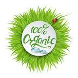100% organisk logodesign stock illustrationer
