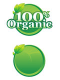 organisk mall för logo Arkivbilder