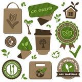 Organisk mat och vänlig temauppsättning för eco royaltyfri illustrationer