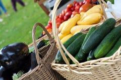 organisk ny marknad för bönder Arkivbilder