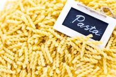 organisk pasta royaltyfri foto