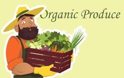 organisk produce royaltyfri illustrationer