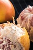Organisk skalad röd grapefrukt Royaltyfria Bilder