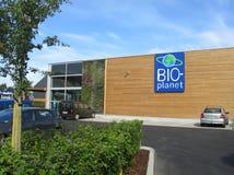 Organisk supermarket, Belgien Arkivfoto