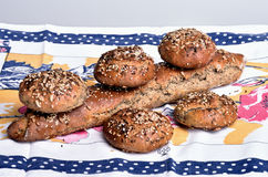 organisk wholemeal för bröd Fotografering för Bildbyråer