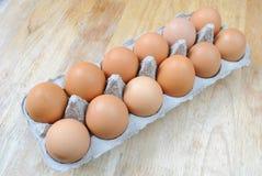organiska ägg Royaltyfri Bild