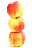organiska äpplen Arkivbilder