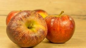 Organiska äpplen i rött royaltyfri fotografi