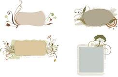 organiska baner royaltyfri illustrationer