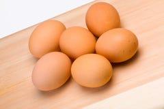 organiska ägg Arkivfoto