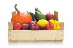 Organiska grönsaker för färgrikt sortiment Fotografering för Bildbyråer