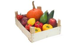Organiska grönsaker för färgrikt sortiment Royaltyfria Foton