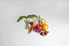 organiska grönsaker för nya frukter royaltyfria bilder