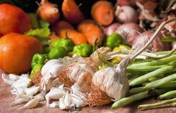 Organiska grönsaker från kubansk marknad Royaltyfri Foto