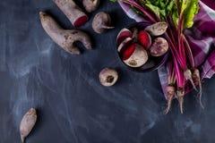 Organiska ingredienser för matställe Royaltyfria Bilder