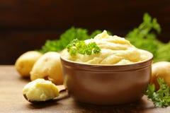 Organiska mosade potatisar royaltyfri fotografi