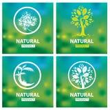 Organiska naturliga logoer Arkivbild
