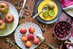 organiska nya frukter Arkivfoton