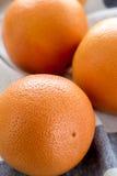 Organiska röda grapefrukter Royaltyfri Foto